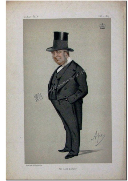 "Vanity Fair Caricature ""the lord dictator"", 1st Earl of Redesdale, Feb 27, 1875 Antique Chromolithograph by APE, Carlo Pelligrini"