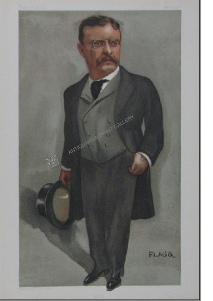 """""""Theodore Roosevelt President of the United States"""" by Flagg for Vanity Fair Magazine, London, Sept 4, 1901"""