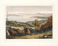 "Giclee Print after George French Angas' ""Port Lincoln, looking across Boston Bay towards Spencers Gulf, Stanford Hill and Thistle Island"" for South Australia Illustrated 1846-47. http://www.historyrevisited.com.au"