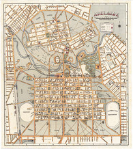 Centenary Map of Adelaide, South Australia. Published  W.H. & E.J. Edmunds in 1936 it shows 100 years of development of a prototype planned  colony. Giclee print available www.historyrevisited.com.au