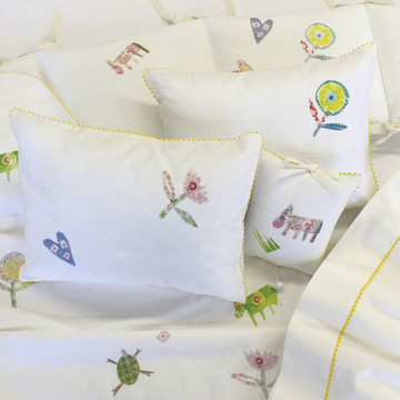 Gender neutral baby bedding set with Cut Out Couture