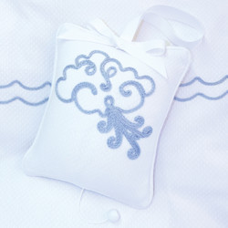 """Musical Pillow with """"Embroidered Blowing Wind"""""""