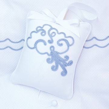 "Musical Pillow with ""Embroidered Blowing Wind"""