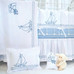 """Crib Ensemble with """"Embroidered Sailboat"""""""