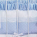 """Crib Bumper in blue """"Celeste"""" with 'Sailboat' & 'French Ribbon'"""