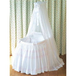 """Seedling"" Bassinet Ensemble in pink"