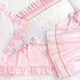 "Crib Ensemble in pink ""Celeste"" & white ""Primel"" with 'Flora' & 'Penelope'"
