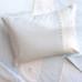 """Boudoir Pillow & Coverlet in blue """"Hopper"""" & white """"Primel"""" with 'Sheep' & 'Ric Rac'"""