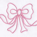"""Embroidered Bow"" in pink"