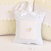 "Musical Pillow in blue ""Hopper"" & white ""Primel"" with 'Sheep' & 'Ric Rac'"