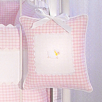 "Musical Pillow in pink ""Hopper"" & ""Primel"" with 'Sheep' & 'Ric Rac'"