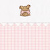 """Fabric Sample in pink """"Hopper"""" & """"Primel"""" with playful 'Baby Bear' & 'Ric Rac'"""