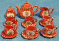 15pc Red Tea Set