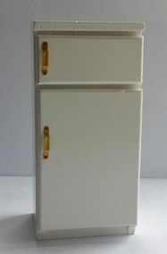 Fridge Freezer With Brass Handles