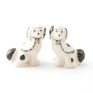 Pair Of Staffordshire Dogs Black & White