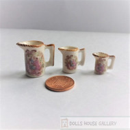 Jugs With Pictorial Design, Three Piece