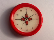 Small Red Guitar Wall Clock