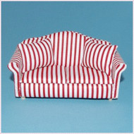 Two Seater Sofa In Red Stripes