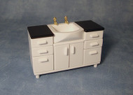 Vanity Sink Unit Black & White
