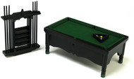 Pool Table With Cues & Balls