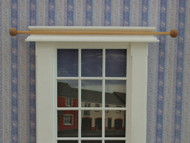 Pair of Wooden Curtain Rails & Four Hooks