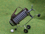 Checked Golf Caddy in Black