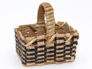 Shopping Basket with Brown Trim