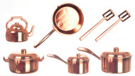 10 pc Copper Coloured Kitchenware Pots & Pans