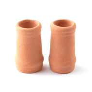 Two Medium Round Chimney Pots