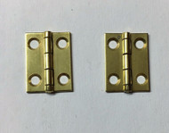 Pair of  Brass Butt Hinges
