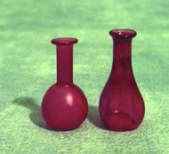 Pair of Red Apothecary Jars