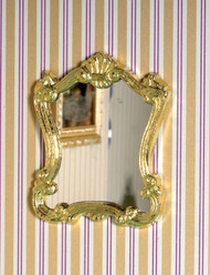 Golden Framed Fancy Mirror