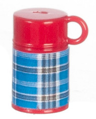 Blue & Red Thermos Flask