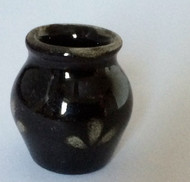 Dark Brown Ceramic Vase
