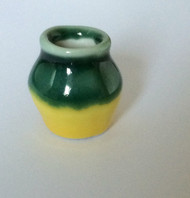 Green & Yellow Ceramic Vase