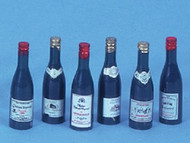 Six Wine Bottles