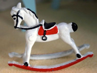 Red & White Rocking Horse