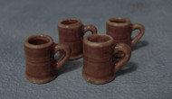 Set of Four Brown Mugs
