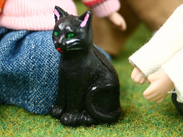 1//12 scale Black Cat Dolls House Miniatures Pets /& Animals