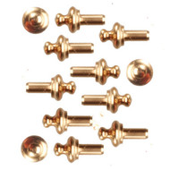 Brass Drawer Knobs Pack of 12