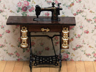Treadle with Brasses Sewing Machine