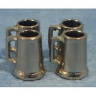 Four Small Pewter Tankards
