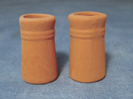 Two Small Round Chimney Pots