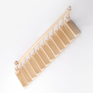 Ready Assembled  Staircase With Banister Left Side