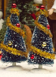 Two Decorated Christmas Trees