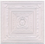 3D Square Ceiling Embossed Decorations 16 Pieces