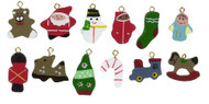 Three Flat Backed Christmas Ornaments (3)