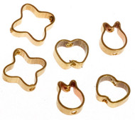 Six Gold Coloured Cookie Cutters