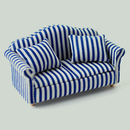 Blue & White Striped Sofa
