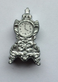 Silver Mantel Clock